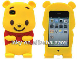 Yellow Winnie The Pooh Bear soft silicone Case Cover fit for the iphone 4/4S