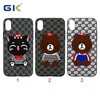 Fashion Embroidery Pattern With Metal Piece PC+TPU Hybrid Cover For iPhone X Case