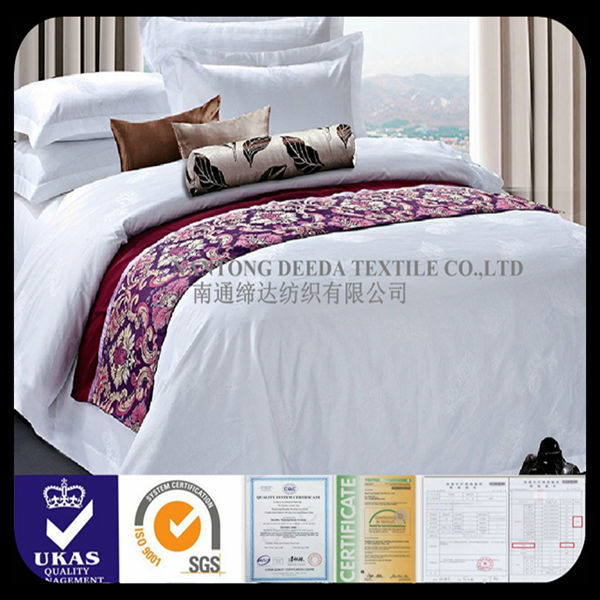 100% cotton 300T jacquard pattern bedding feather home textile