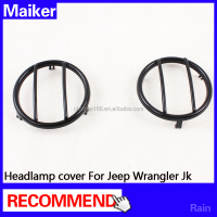 Black Fog lamp cover for jeep wrangler accessories auto parts Fog lamp cover