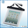 hot sale high quality pvc waterproof bag for ipad Air with lanyard