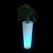 wholesale tall clear plastic centerpiece flower vases with led
