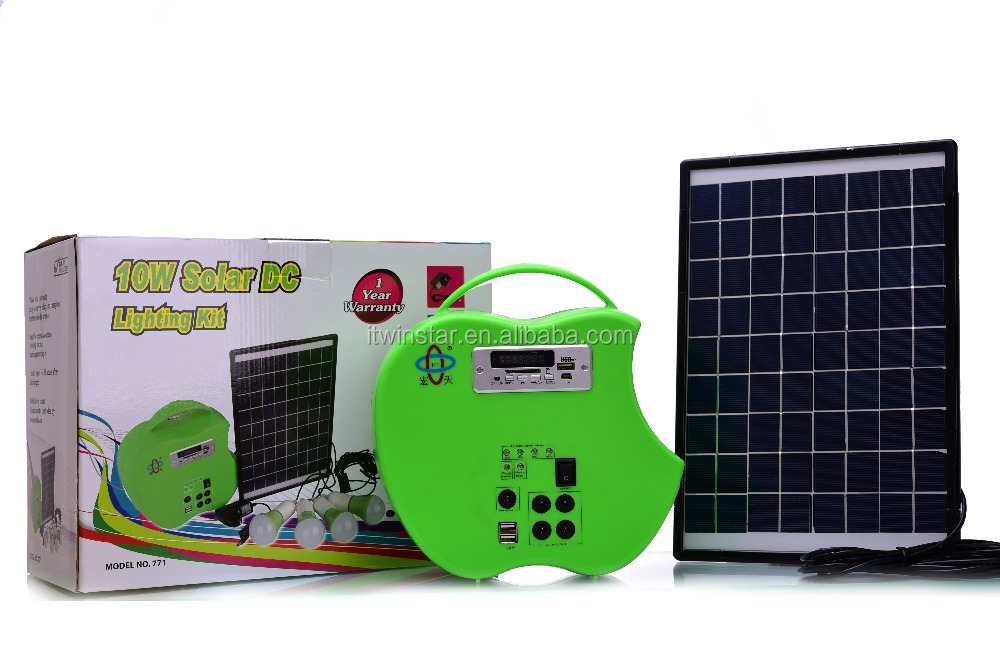 10W Solar DC Lighting Kit, Solar Home Lighting System, Apple Engine