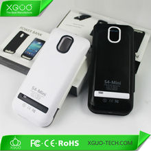2600mah leather extended battery case for samsung s4 mini