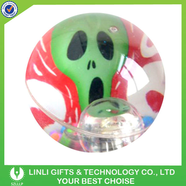 75mm TPU Skull LED Lighting Up Bouncing Ball
