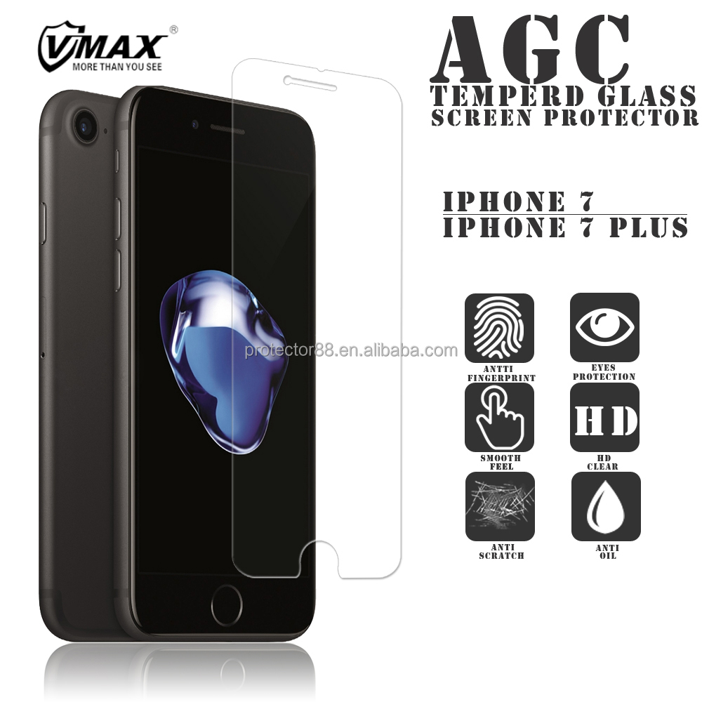 Mobile phone high clear for iPhone 7 / 7 plus anti shock tempered glass screen protector