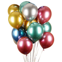 Factory Directly Wholesalers For Party Decorations Chrome Helium <strong>12</strong>&quot; 3g Sliver Gold 12inch Thick Metallic Natural Latex Balloons