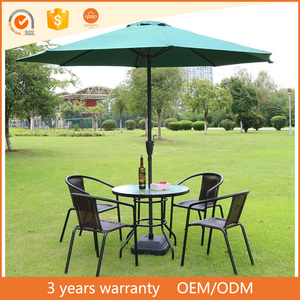 Europe type style high quality cafe imitation pe rattan furniture outdoor