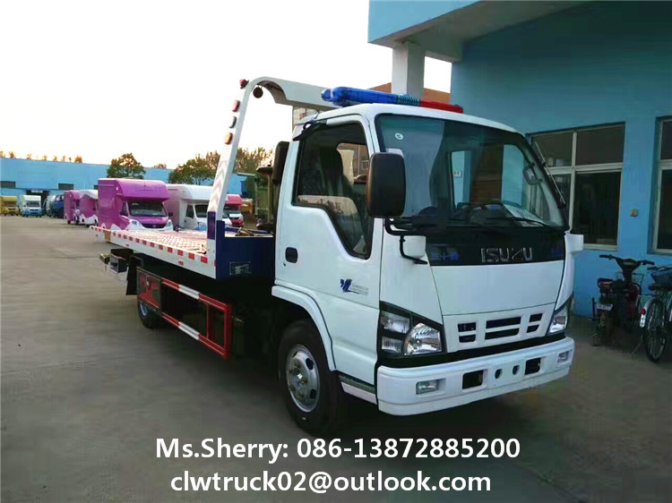 Japan brand engine I-SUZU wrecker towing truck
