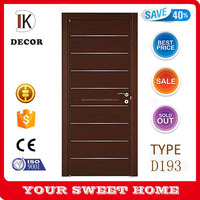 china manufacturer latest design plain wooden doors with aluminum strip