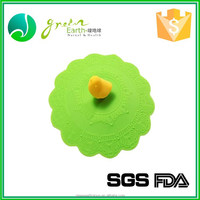 Unique flower shape silicone cup lid