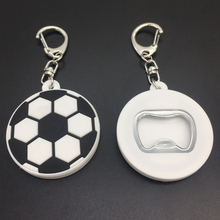 Football Shape Soft PVC Bottle Opener Keychain