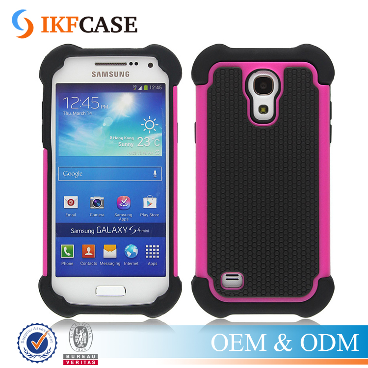 Shock Absorbing Hybrid Defender Rugged Slim Plastic + Rubber Silicone Phone Cover Case for Samsung Galaxy S4 i9500 i337