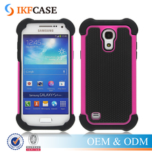Shock Absorbing Hybrid Rugged Slim Plastic + Rubber Silicone Phone Cover Case for Samsung Galaxy S4 i9500 i337