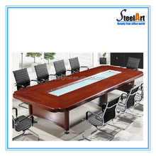 Meeting office used high tech wooden meeting desk with chairs for sale