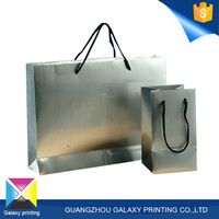 Hot sale custom shinning white wedding gift paper bag/shopping paper bag with handles