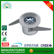 1w cabinet led mini spot light 1/3w 3 years warranty with perfect lighting effect