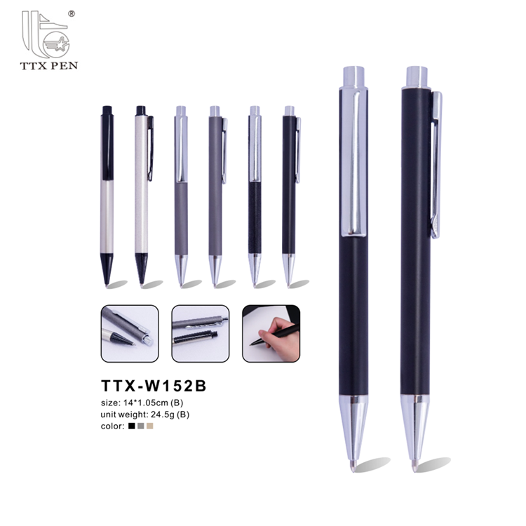 2018 Best prices different types Promotional Click Metal Pen With Logo