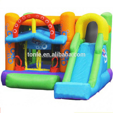 Inflatable Double Shot Bouncer - Small Bounce House With slide for kids