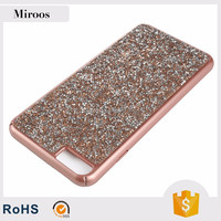 Custom design mobile phone case glitter diamond pc case factory sale for iPhone 7