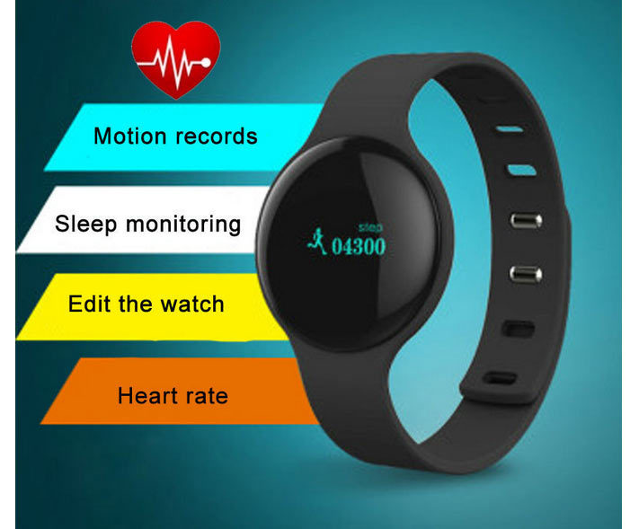 H18 Sport Bluetooth Smart Bracelet Watch SS Anti-lost Health Wristband Sleep Monitor Tracker Heart Rate Monitor Smart Watch
