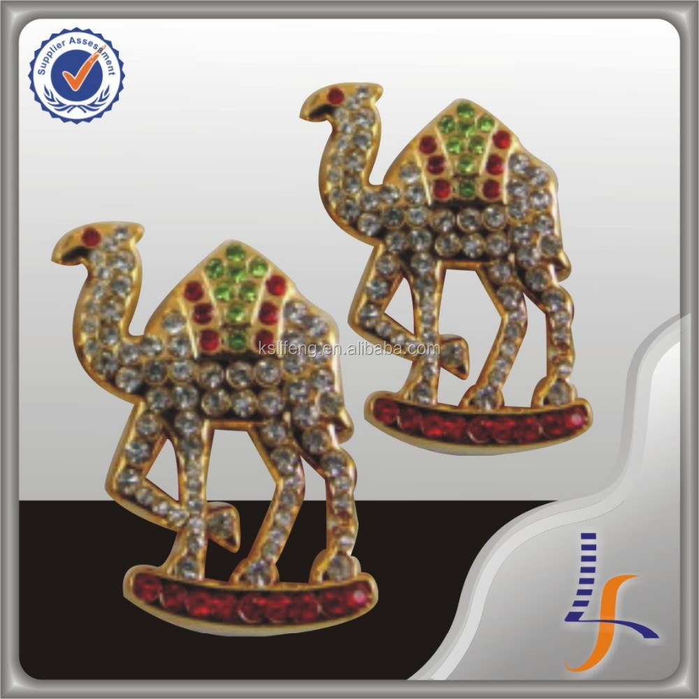 masonic Rhinestone Camel Design 3D Badge