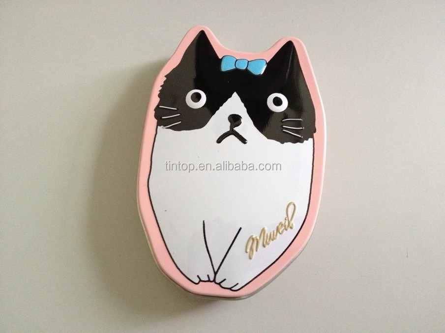 cute design rabbit shape tin box