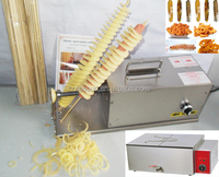 3 in 1 Electric Sausage Hot Dog Twister Spiral Tornado Potato Cutter Curly Fries Cutter + Deep Fryer + Bamboo Skewer