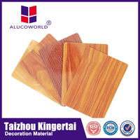 Alucoworld composite acp grooving machine produce quality 5mm wood sheet outdoor Composite Panel exterior wood facade panels