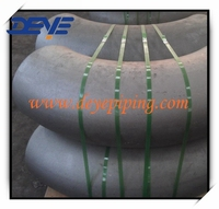 Mild Steel Pipe Fittings Butt Wellded Ends seamless Elbow of Large Size