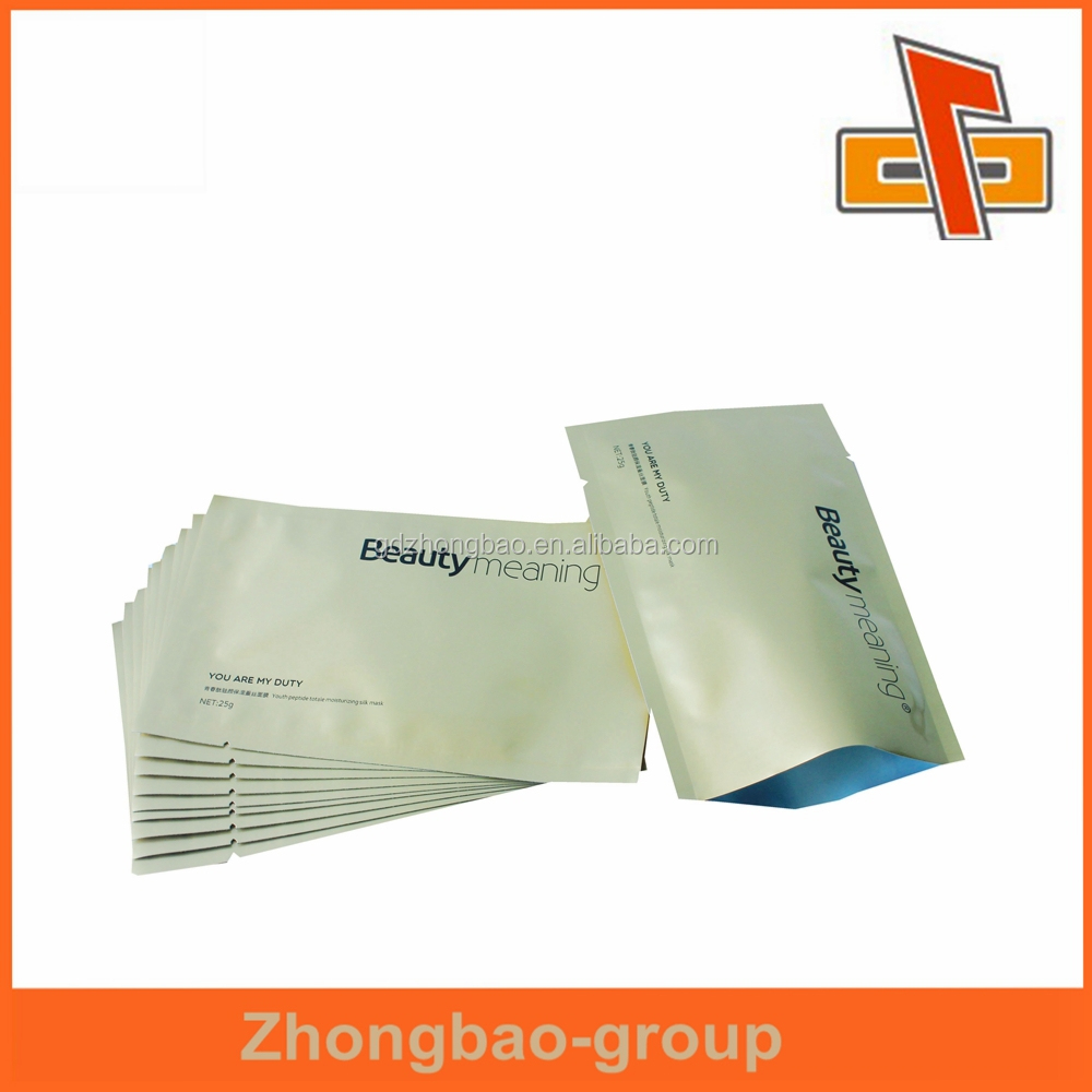 goods best sellers packaging <strong>materials</strong> <strong>plastic</strong> cosmetic packaging bag for facial mask