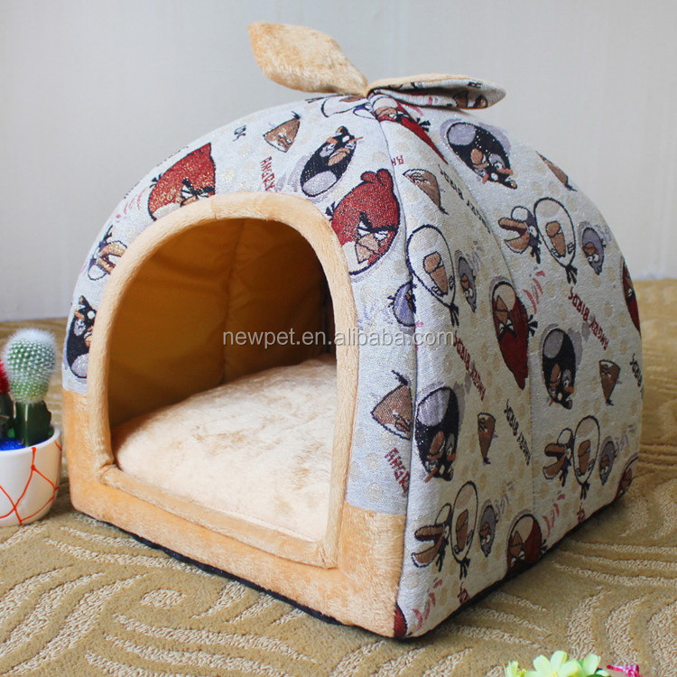 Eco-friendly nice grade s,m,l size dog bed cover leopard cat beds