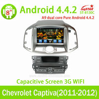 Quad-Core Android 4.4 Car DVD radio for Chevrolet Capt with steering wheel control GPS 3G Wifi mirro link OBD Bluetooth function
