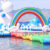 Rainbow Unicorn Inflatable Floating Aquapark Giant Adults Sea Park Obstacle Course Equipment Water Sports Island For Lake