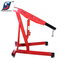 3 ton portable telescopic floor small lift engine crane for sale