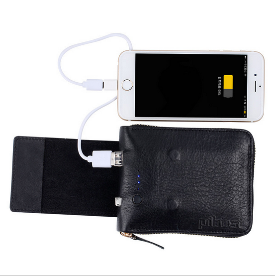 small mobile phone case card holder wallet solar charger wallet for mobile phone