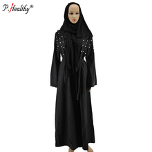 factory direct new designs luxury party model dubai muslim abaya with beads