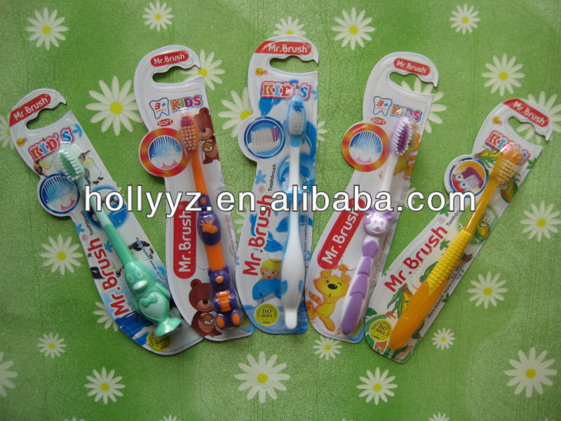 2014 New design various animal cartoon baby toothbrush