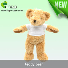 wholesale bulk christmas stockings for 2015 made in China, plush standing kids teddy bear for sublimation