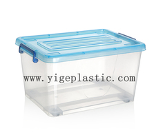 Cheap price stackable various color clear 15L plastic storage box with lid and wheels