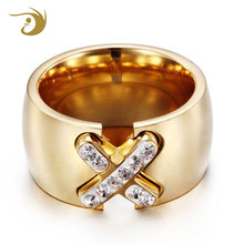 Fashion 2018 High Quality Exquisite Women Square Stone Crystal Gold Plated Rings