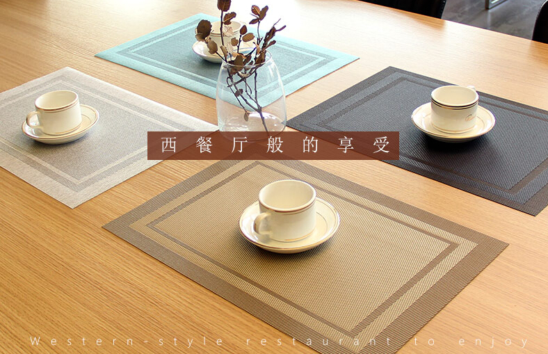 New design waterproof PVC fabric placemat