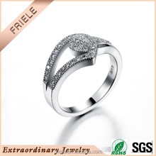 New Arrical elegance 925 sterling Silver finger Ring China Wholesale ring with AAA Zircon