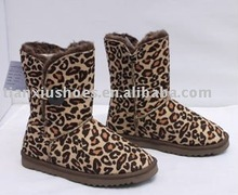fashion leopard ankle classical winter snow boots