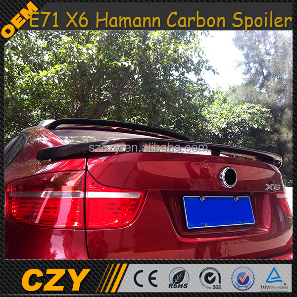 Car Carbon Fiber Trunk Wing E71 X6 Rear Spoiler For BMW X6 E71