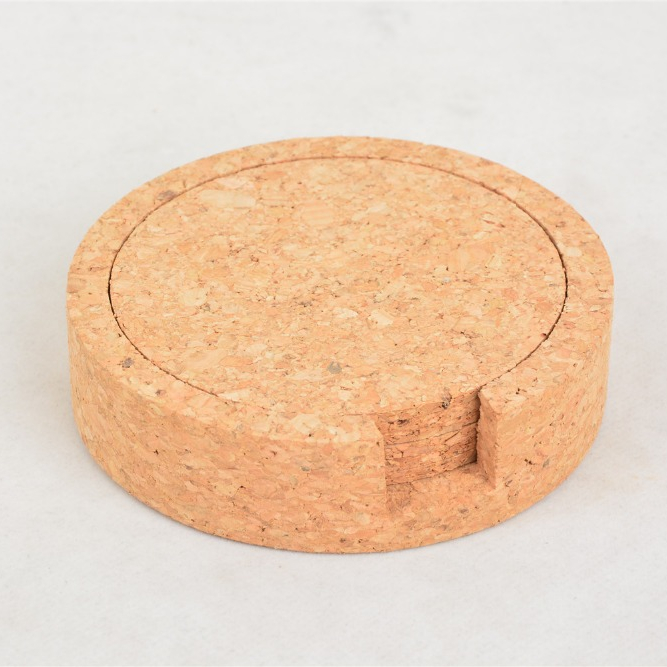 100% <strong>natural</strong> coaster cork set coasters for drink