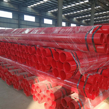 Red painted fire fighting system sprinkler steel pipe