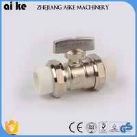 butterfly handle brass ball valves water service brass ball valve 3 way hydraulic valve