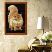 3D Painting Manufacturer Wall Decor Diy Diamond Painting Cat Metal Wall Art
