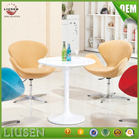 Popular elegant design round acrylic white coffee table